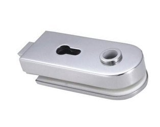 Glass Door Double-Action Lock  prepared for Handle  and Standard Cylinder
