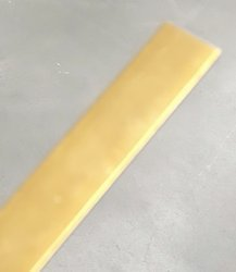 15x2 mm  Bar / L=1000 mm / Brass Polish