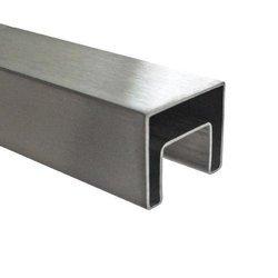 40x40 Square Glass Balustrade Handrail,  L - 2,5/5 m, satin