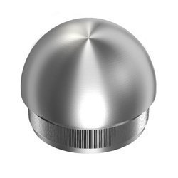 Ball End Cap for Ø 48,3x2 mm  Pipe /Satin