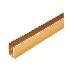 Brass Polish U Channel for Glass Shower / L=250 cm