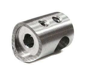 Curved Back Crossbar Holder for Ø8 pipe / Ø33,7 mm/  SATIN
