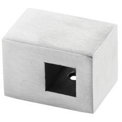 Flat Back Crossbar Holder for 10x10 mm Profile / SATIN