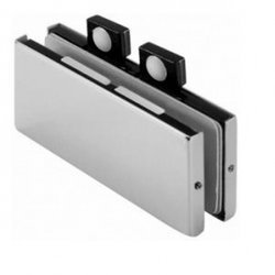Frameless Connector of two Panels with a Bumper / Satin