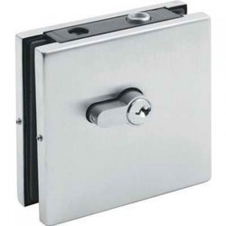 Frameless Lock with Cylinder / Satin, Silver