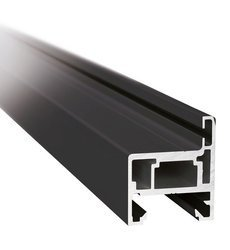 H type Black Profile Set for Glass Door Frame, H=2510 mm / Satin, Silver