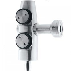 Overpanel-Wall Glass Connector , SATIN