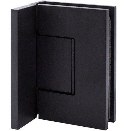 Black Glass Shower Hinge  (hidden screws) for loft