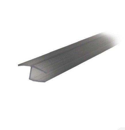 Shower Door Glass Seal (Glass-to-Glass 180°) - 6,8 mm