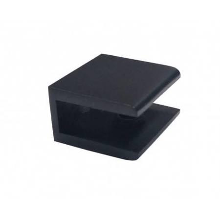 30 mm Square Glass Shelf Clamp / Matte Black