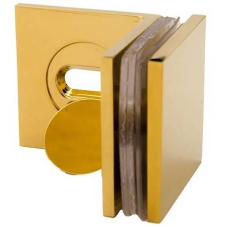 45x45 90°  Polish Brass Shower Clamp with Masking Cap