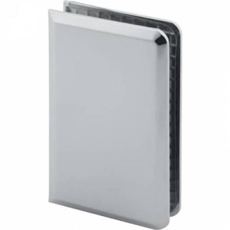 90x55 Fixed  Glass Panel Clamp /  Polish, Satin