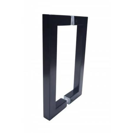 Black  20 cm Loft Handle for Glass Door