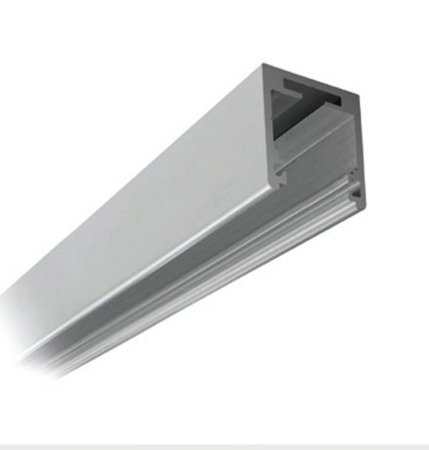 Fixed Panel 38x34 Profile with Seals for 10-10,76 mm Glass - Top Mounting