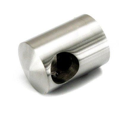 Flat Back Crossbar Holder for Ø10 pipe/ End Hole/ Left