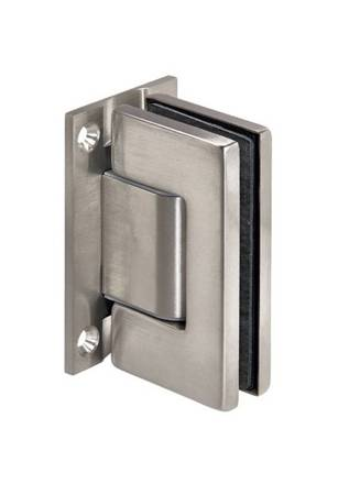 Frameless Door Spring 180°Wall Mount  Hinge  with self-closing function / Satin