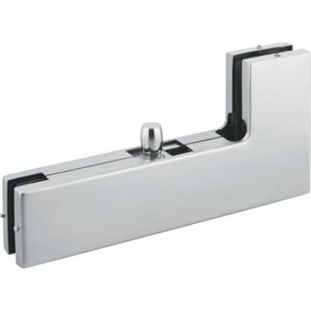Frameless Overpanel Top  Fixing with Pin / Satin, Silver