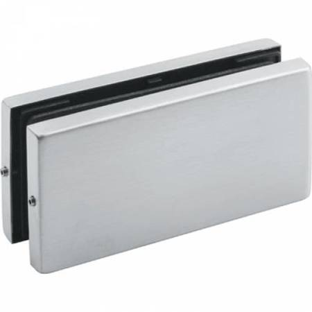 Frameless Two Panels Connector / Satin