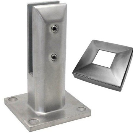 Glass Balustrade Minipost ,  H=185 mm/ Satin