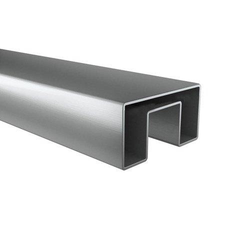 Glass Balustrade Rectangular Handrail,  60 x 25 mm, L - 2,95 m, anodized aluminium