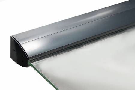 Glass Canopy  Set with LED lighting, L=1400 mm