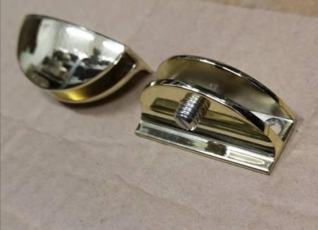 Glass Shelf Holder for 6 mm Glass / Polish, Satin, Gold Finishing