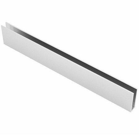 H=40mm U profile for Glass Panels  - Top mounting/ Polish - 8,10 mm