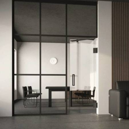 Loft Wall Cross Bar System / Matte Black